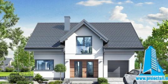 Proiect Casa cu mansarda 240.5m2 – 101120