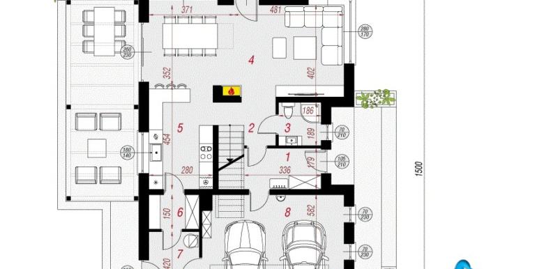 проект дома с мансардой parter