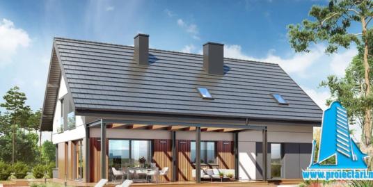 Proiect Casa cu parter, mansarda si garaj   219,0m2 – 101114