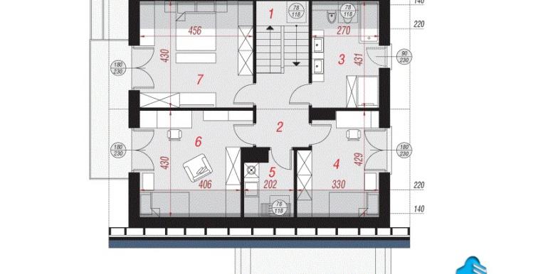 проект дома с цокольным этажом и мансардой mansarda