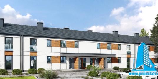 Proiect Casa townhouse cu doua etaje   196.3m2 – 101111