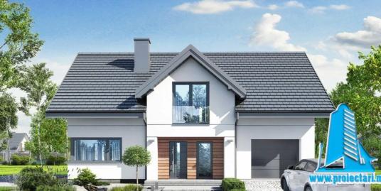 Proiect Casa cu  demisol, parter si mansarda si garaj pentru un automobil   256m2 – 101107