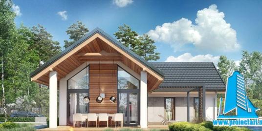 Proiect Casa cu mansarda 172,8m2 – 101118