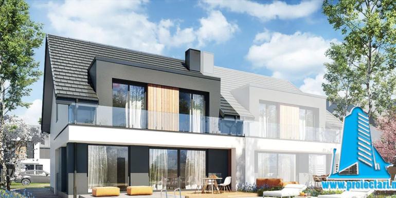Proiect de casa duplex cu mansarda