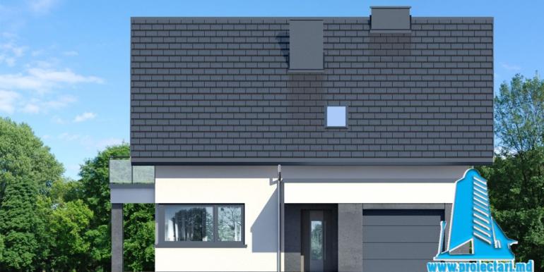 fatada проект дома с цокольным этажом и мансардой