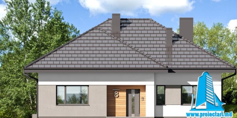fatada 1 проект дома с мансардой