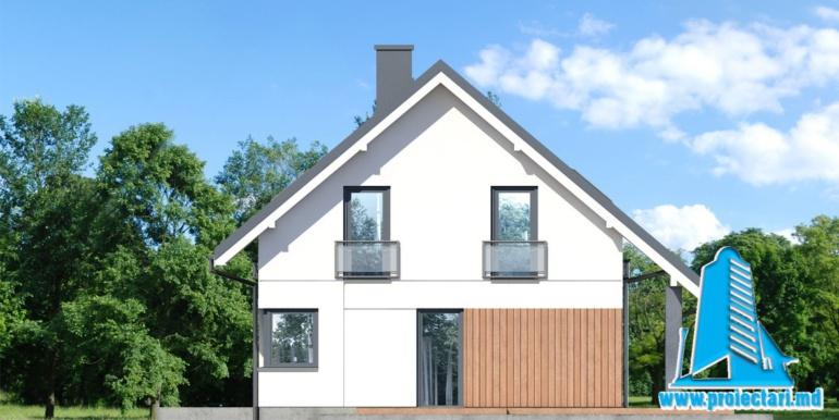 fatada 2 проект дома с мансардой