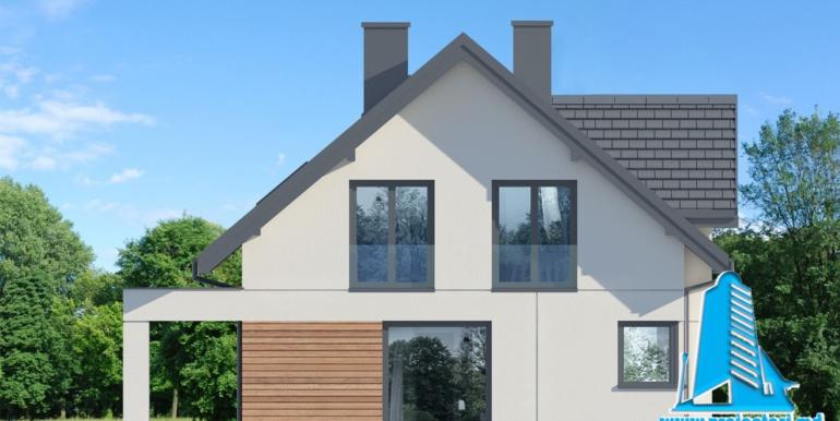 fatada 2 proiect de casa cu mansarda