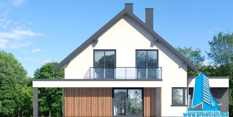 fatada 3 проект дома с цокольным этажом и мансардой