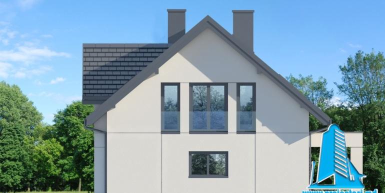 fatada 3 proiect de casa cu mansarda
