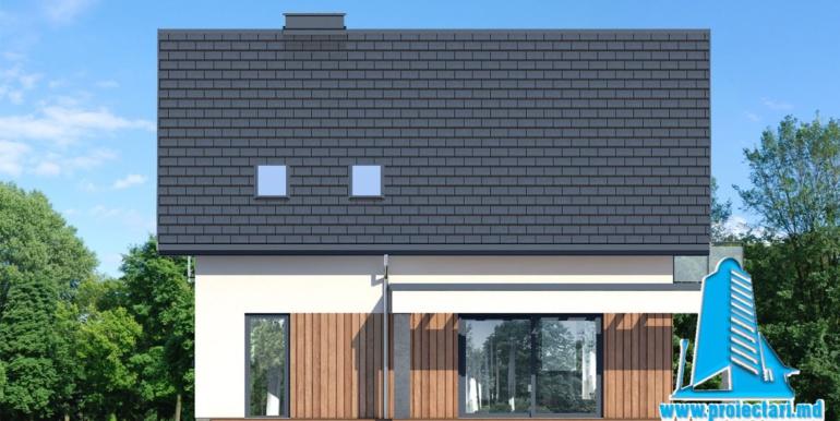 fatada 4 проект дома с цокольным этажом и мансардой