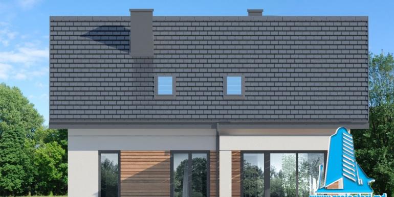 fatada 4 proiect de casa cu mansarda