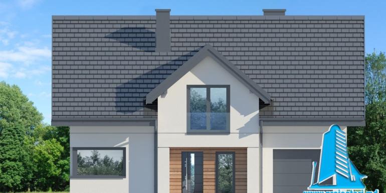 fatada proiect de casa cu mansarda