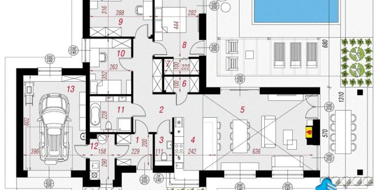 plan Проект дома с цокольным этажом и мансардой