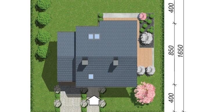 plan amplasare проект дома с мансардой
