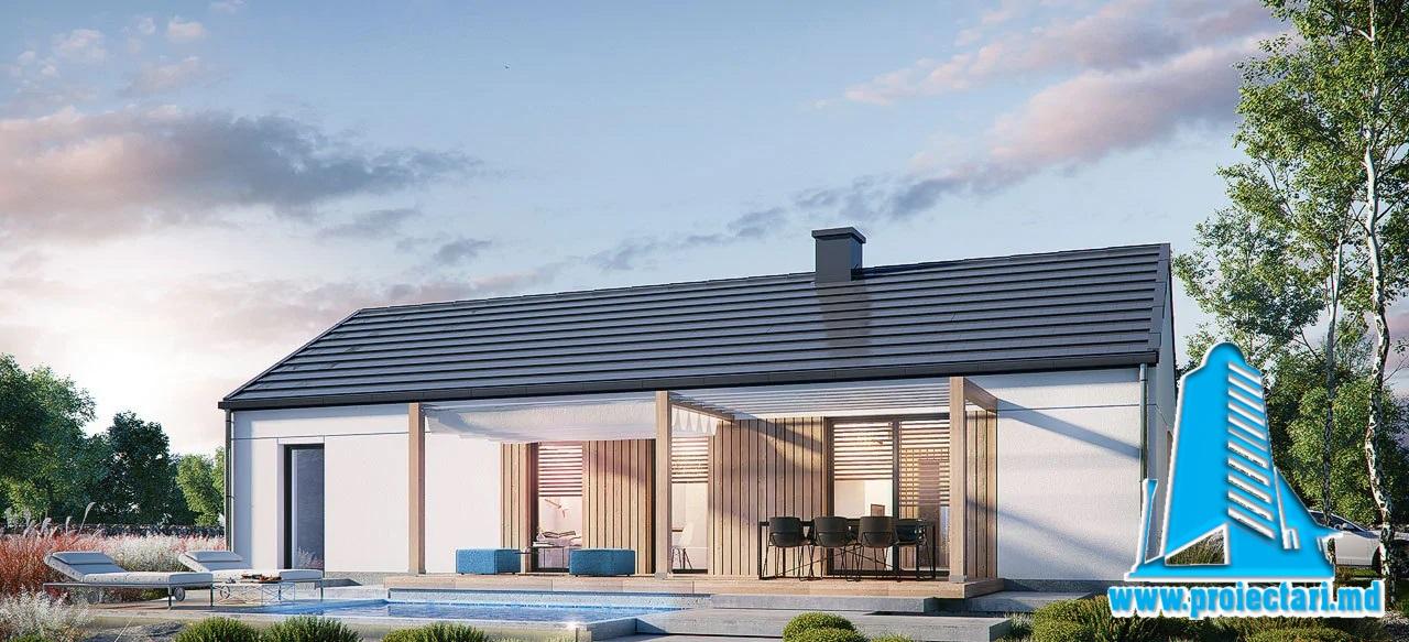 Proiect Casa cu un etaj  116m2 – 101115