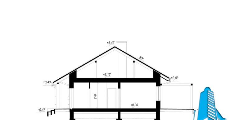 sectiunea проект одноэтажного дома