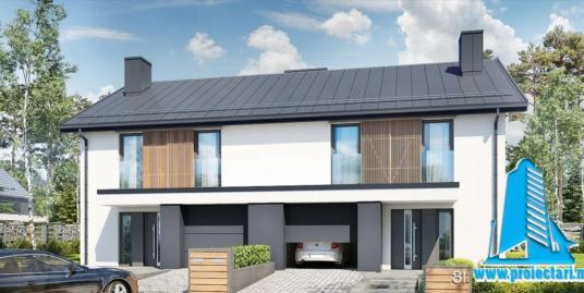 Proiect Casa duplex cu etaj 168,8m2 – 101121