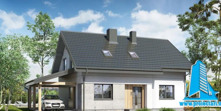 Проект мансардного дома 1