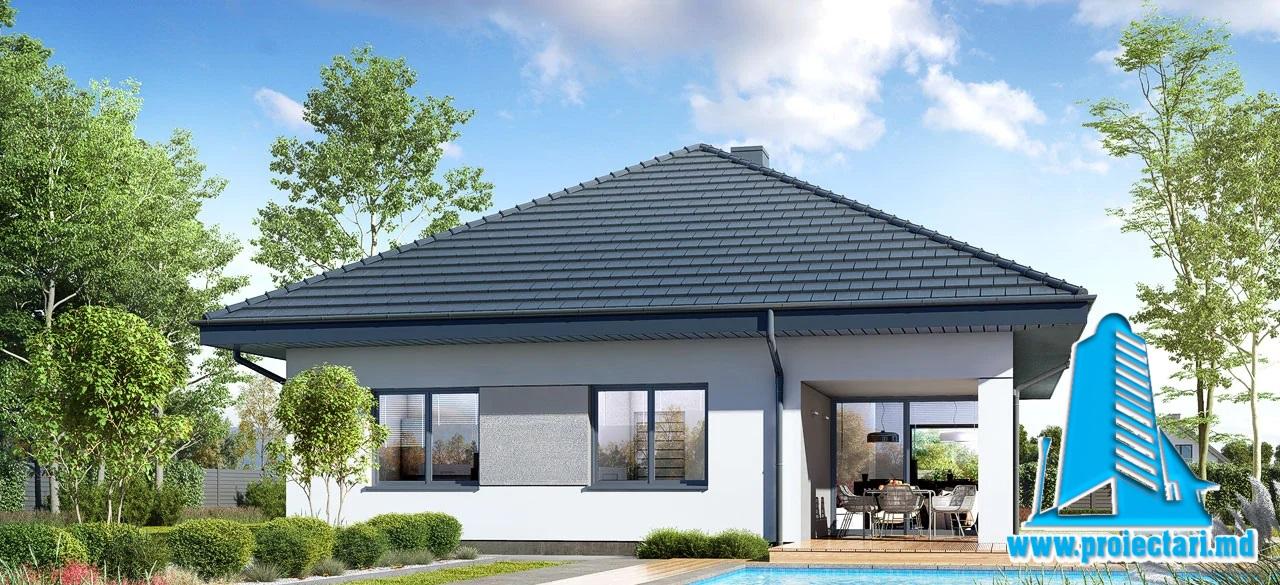 Proiect Casa Parter 165,8m2 – 101127