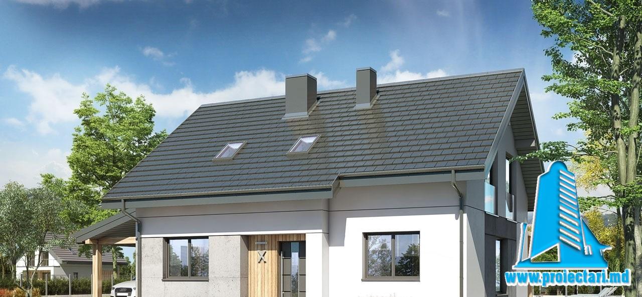 Proiect Casa cu mansarda 208m2 – 101131