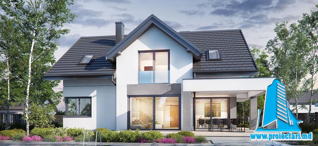 Proiect Casa mansarda 273,6m2 – 101128