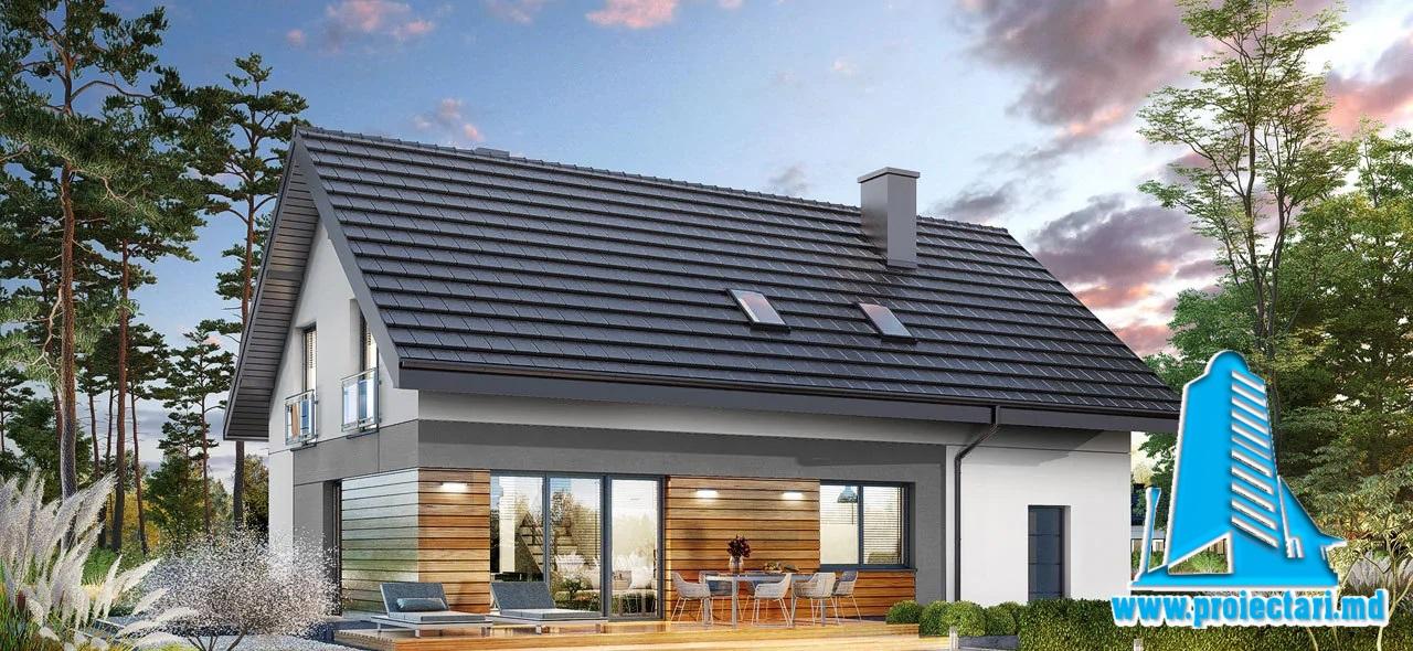 Proiect Casa cu mansarda 182.0m2 – 101122