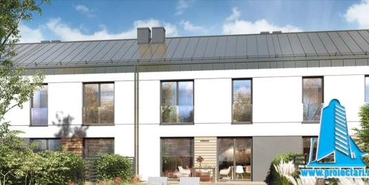 Proiect Casa townhouseu 2 nivele 129m2 – 101130