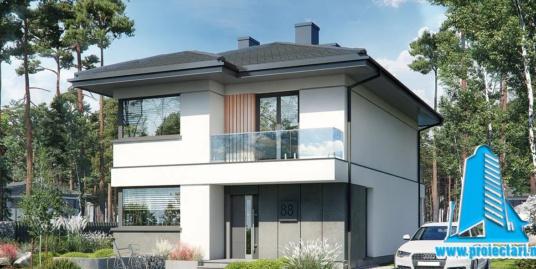 Proiect Casa cu etaj 180m2 – 101132