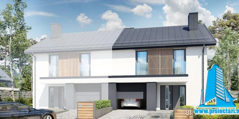 Proiect de casa duplex cu doua etaje