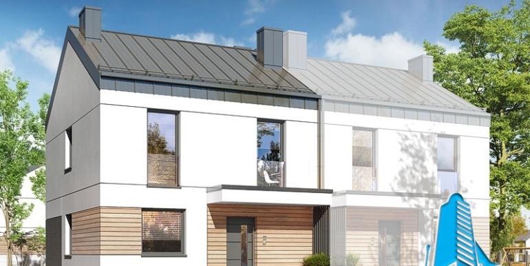 Proiect de casa duplex cudoua etaje