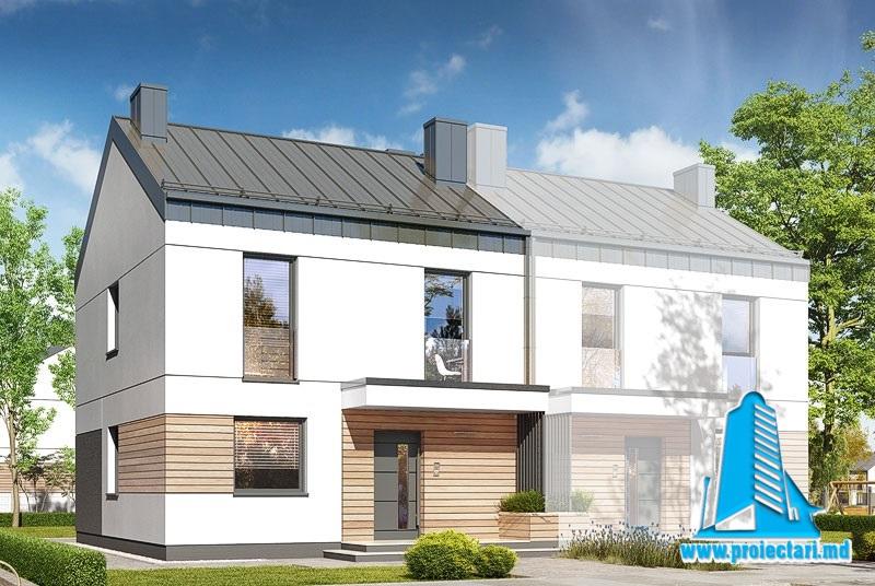 Proiect Casa Duplex 133,8m2 – 101126