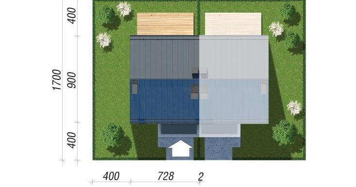 amplasare Проект двухэтажного дуплекса