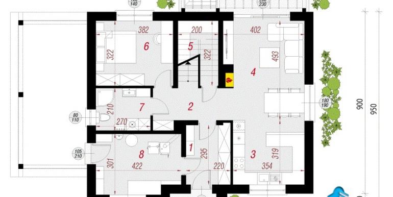 casa cu parter Проект мансардного дома