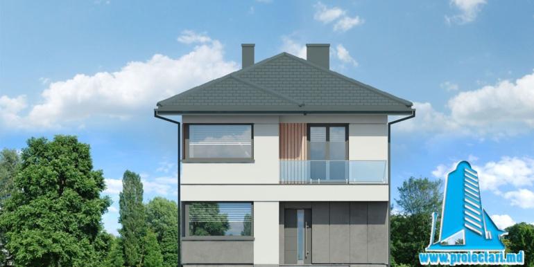 fatada 1 Проект двухэтажного дома