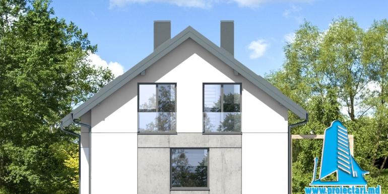 fatada 3 Проект мансардного дома