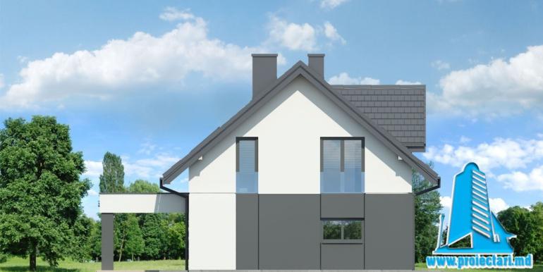 fatada 4проект дома с мансардой