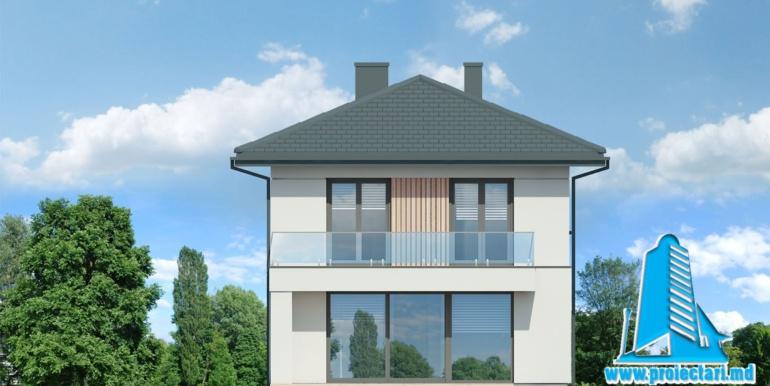 fatada 4 Проект двухэтажного дома