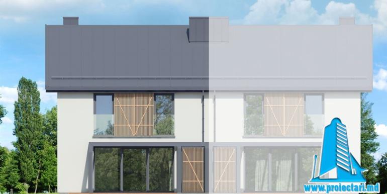 fatada 4 Проект дуплекс с двумя этажами