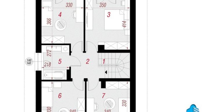plan etaj Проект двухэтажного дома