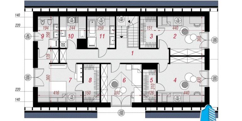 plan manasarda проект дома с мансардой