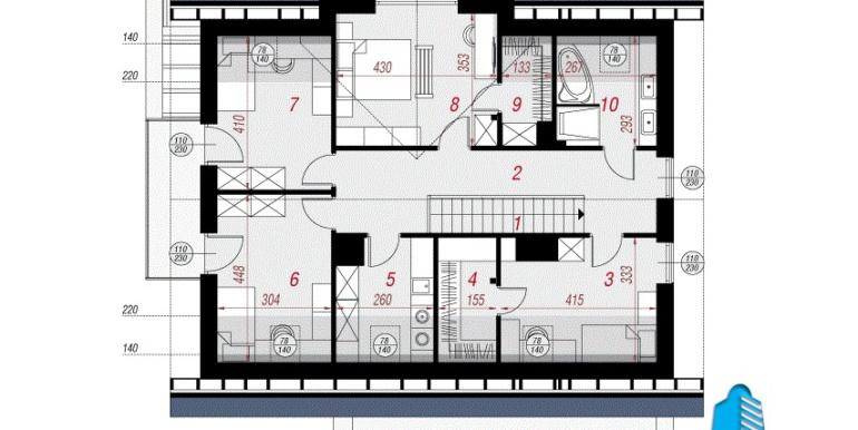 plan mansarda проект дома с мансардой