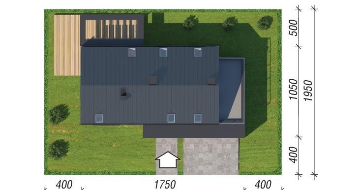 plan teren проект дома с мансардой