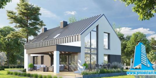 Proiect Casa cu mansarda 284.7m2 – 101124