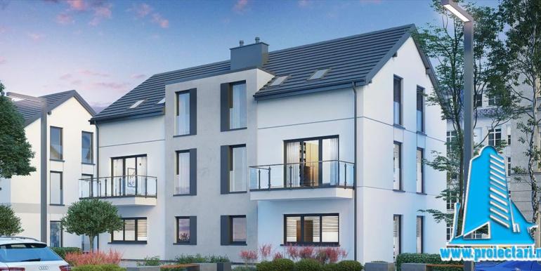proiect de casa duplex cu 3 nivele