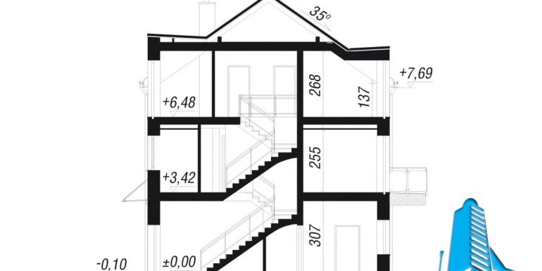 sectiune Дуплекс проект дома