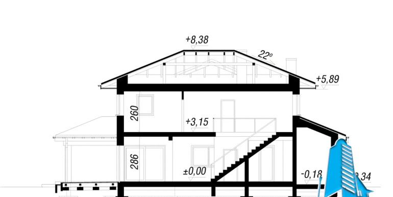 sectiune Проект двухэтажного дома — копия