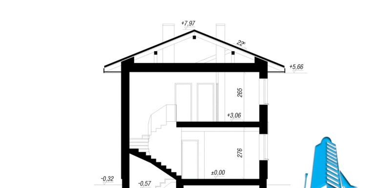 sectiunea Проект двухэтажного дома