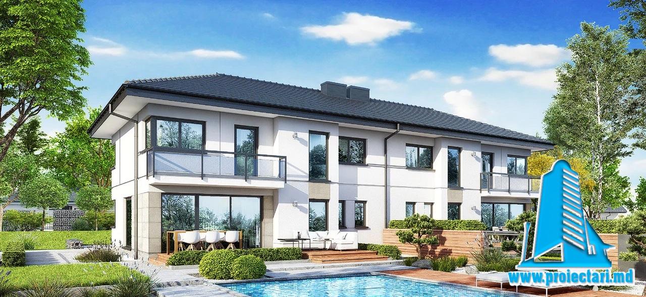 Proiect Casa duplex 206.5m2 – 101134