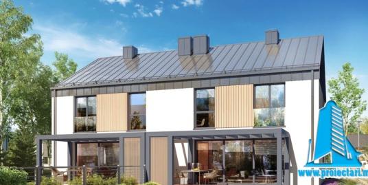 Proiect Casa duplex 168.5m2 – 101135